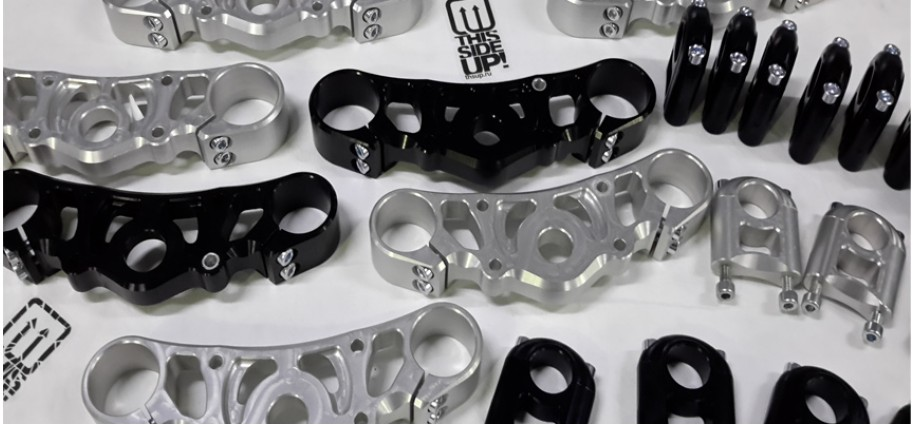 34mm triple clamps for street and stuntbikes